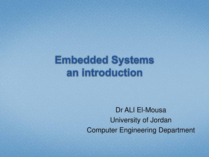 embedded systems an introduction n.