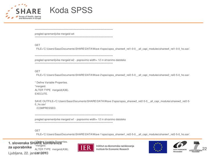 Koda SPSS