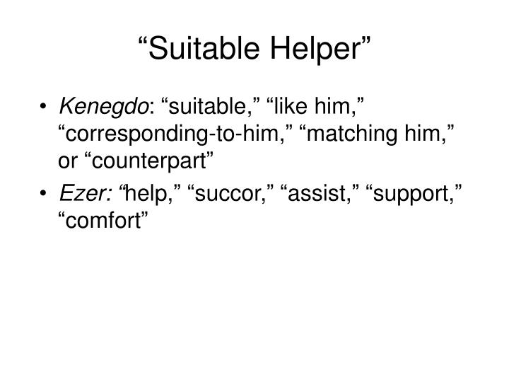 """Suitable Helper"""