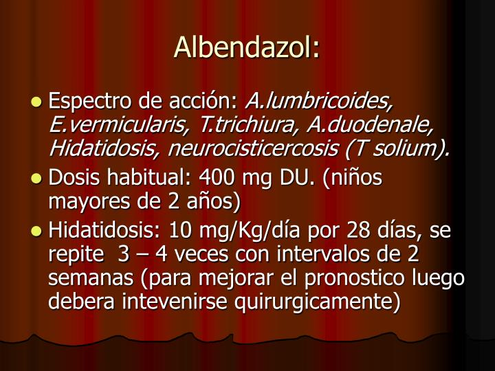 Albendazol: