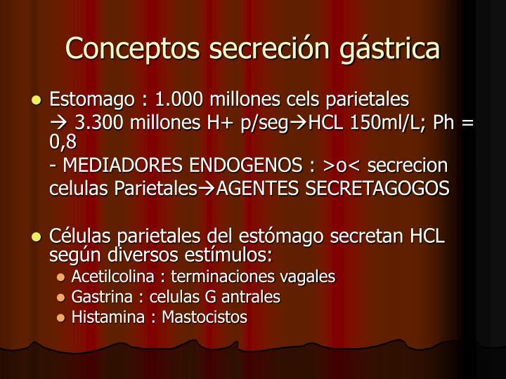 Conceptos secreci n g strica