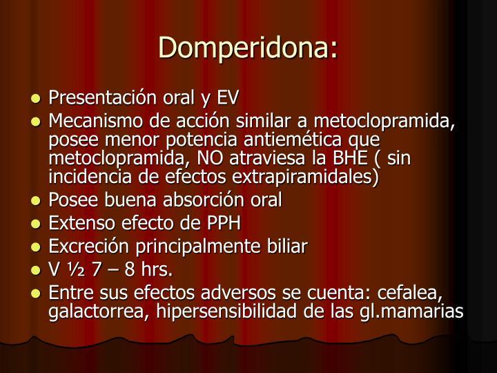 Domperidona:
