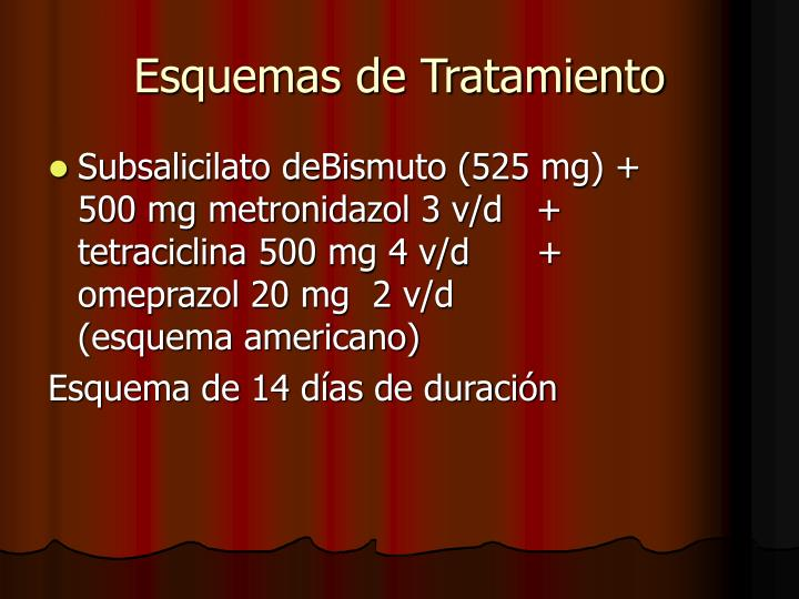 Esquemas de Tratamiento