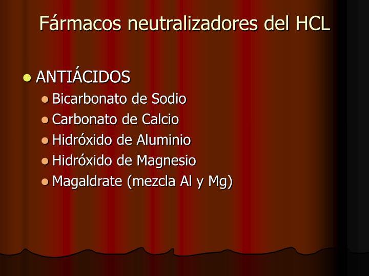 Fármacos neutralizadores del HCL