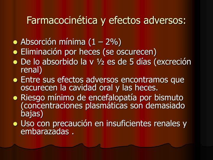 Farmacocinética y efectos adversos:
