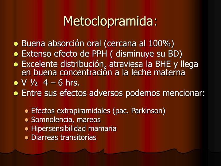 Metoclopramida: