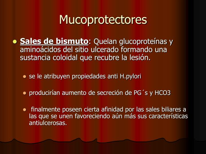 Mucoprotectores