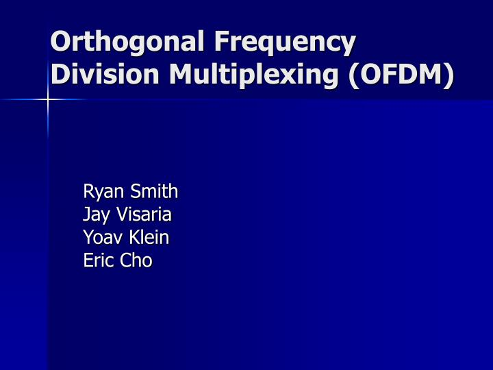 orthogonal frequency division multiplexing ofdm n.