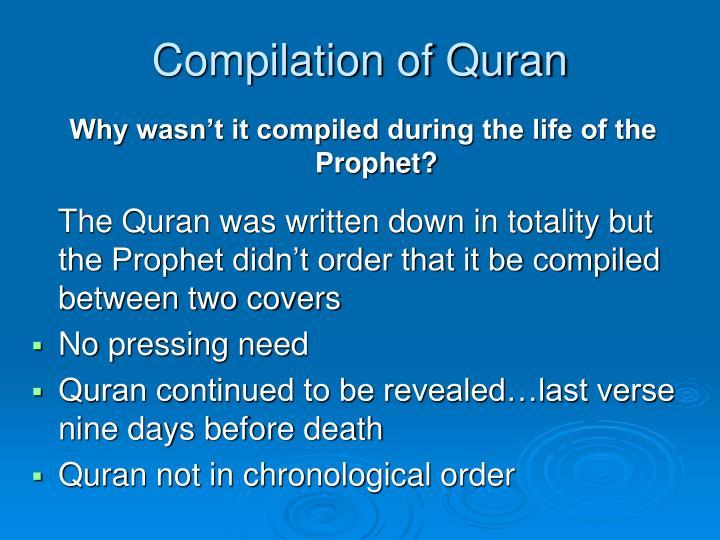 Compilation of Quran
