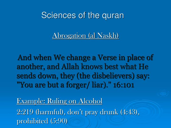 Sciences of the