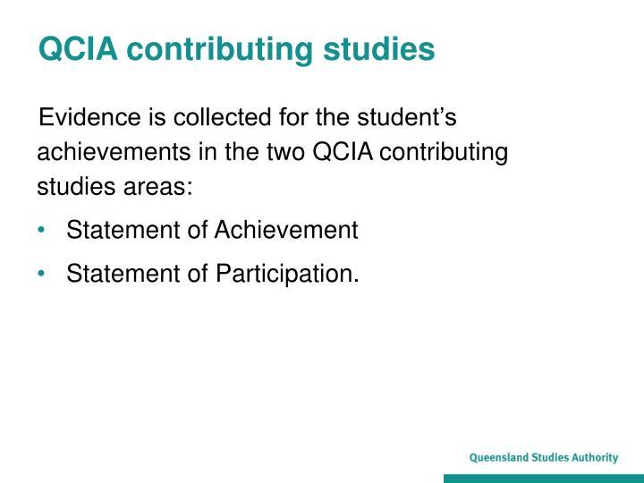 Qcia contributing studies