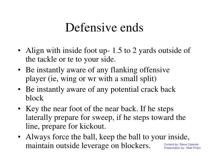 Defensive ends