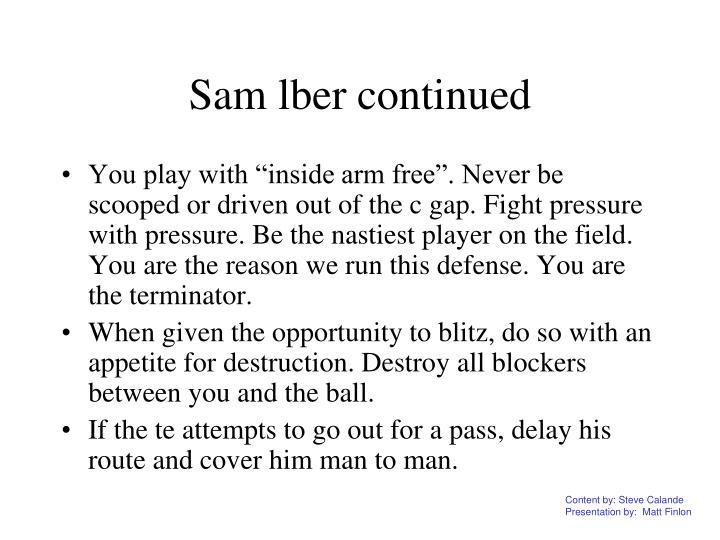 Sam lber continued