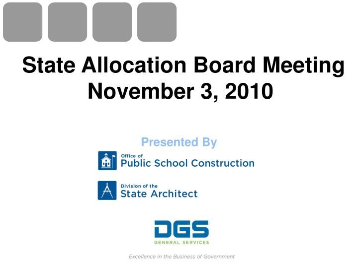 state allocation board meeting november 3 2010