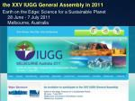 the xxv iugg general assembly in 2011