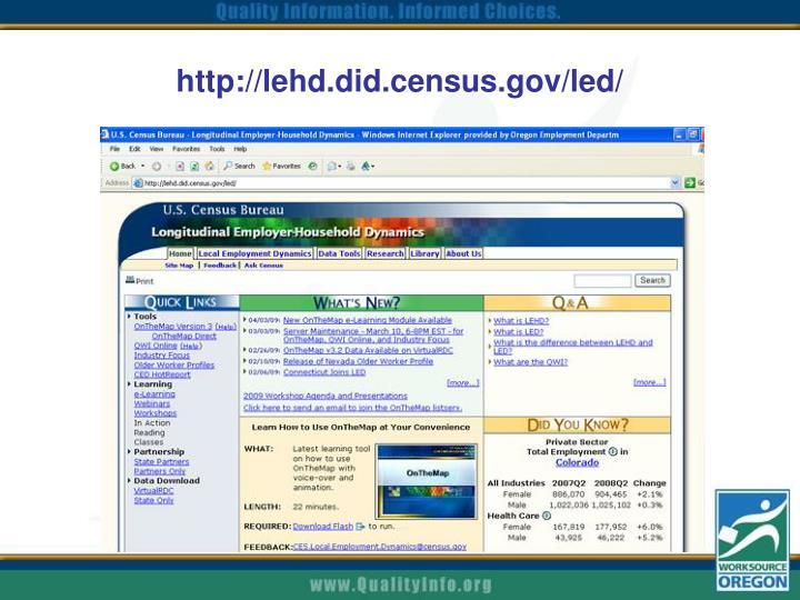http://lehd.did.census.gov/led/