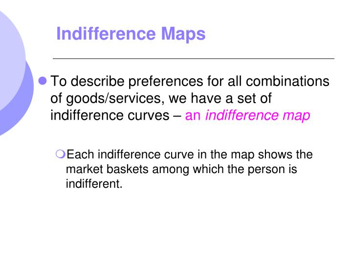 Indifference Maps