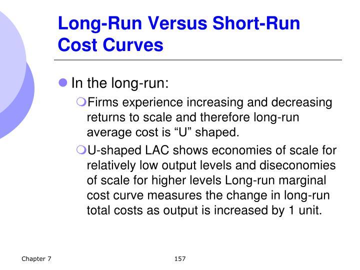 Long-Run Versus Short-Run Cost Curves