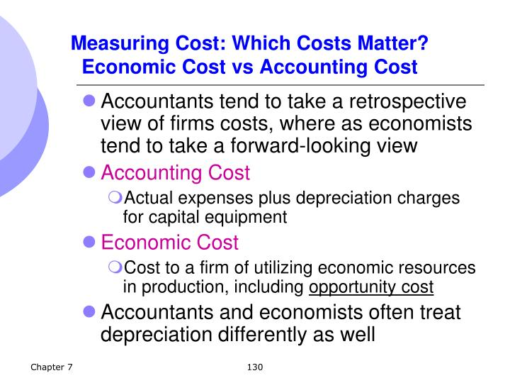 Measuring Cost: Which Costs Matter?