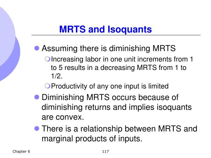 MRTS and Isoquants