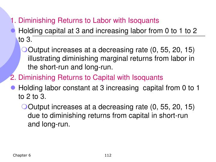 1. Diminishing Returns to Labor with Isoquants
