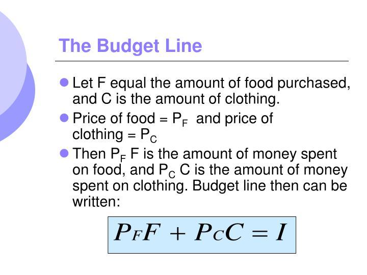 The Budget Line