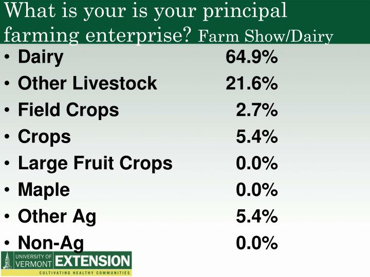 What is your is your principal farming enterprise?