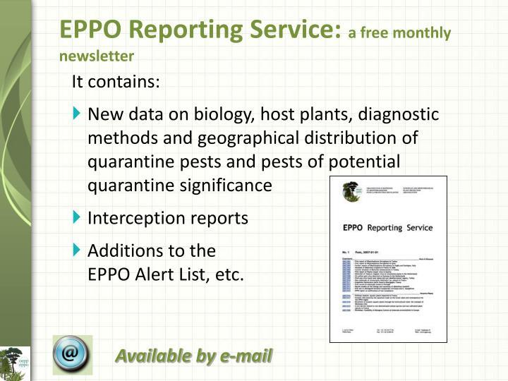 EPPO Reporting Service: