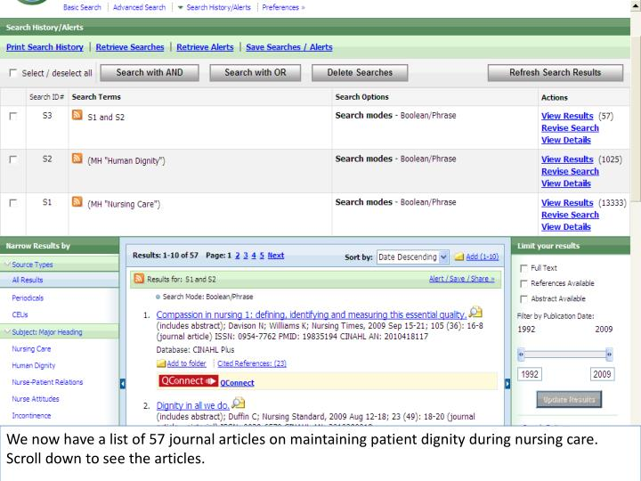 We now have a list of 57 journal articles on maintaining patient dignity during nursing care. Scroll down to see the articles.