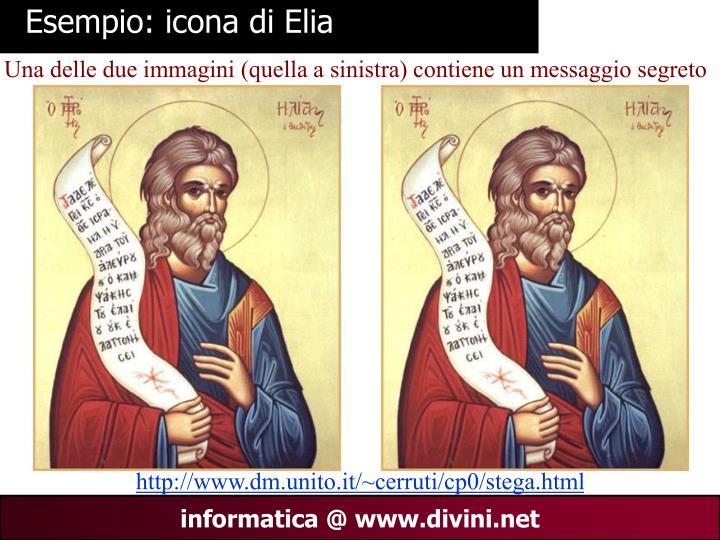 Esempio: icona di Elia