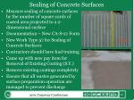 sealing of concrete surfaces