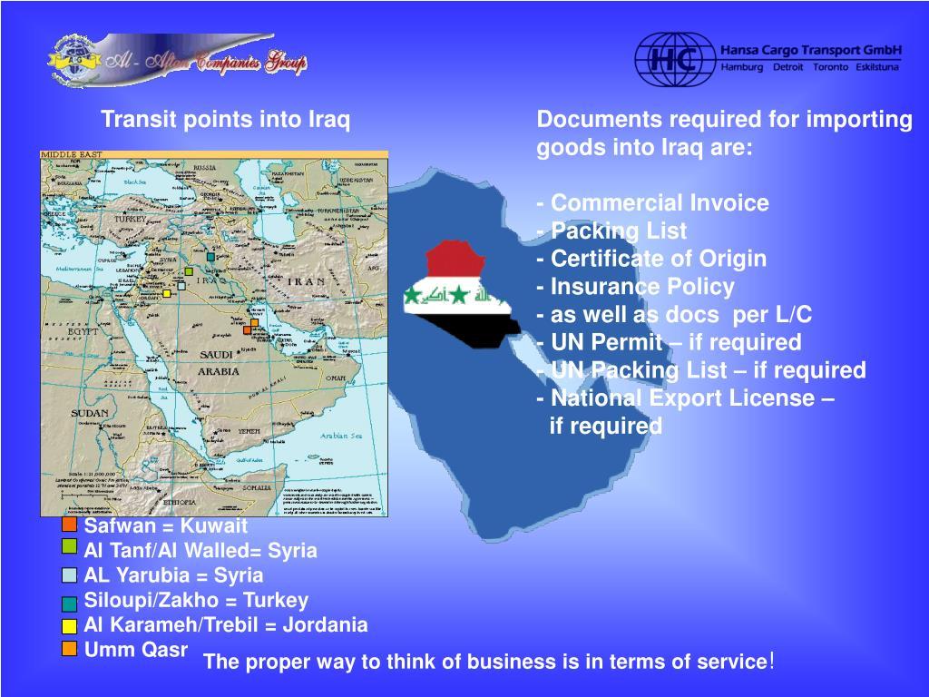 PPT - AL Aftan Companies Group and HC Hansa Cargo Transport