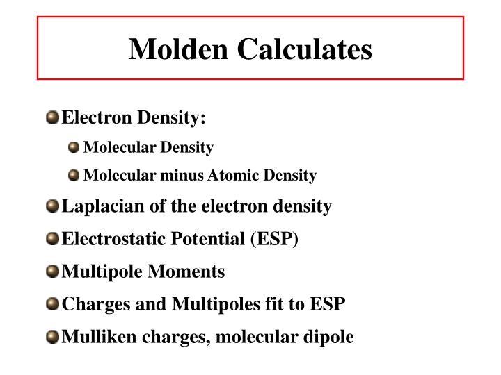 Molden Calculates
