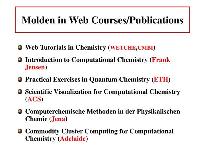 Molden in Web Courses/Publications