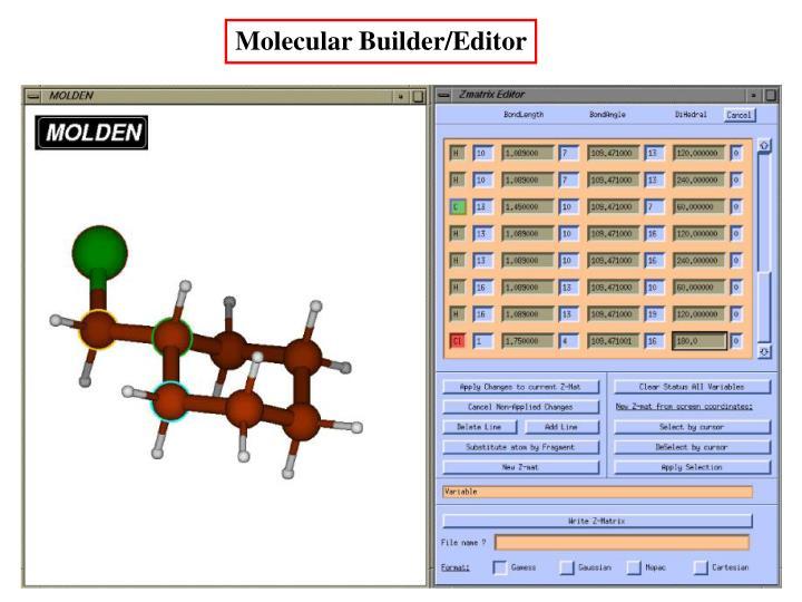 Molecular Builder/Editor