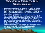 sbuv 2 v8 cohesive total ozone data set