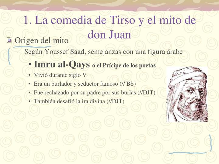 1. La comedia de Tirso y el mito de don Juan