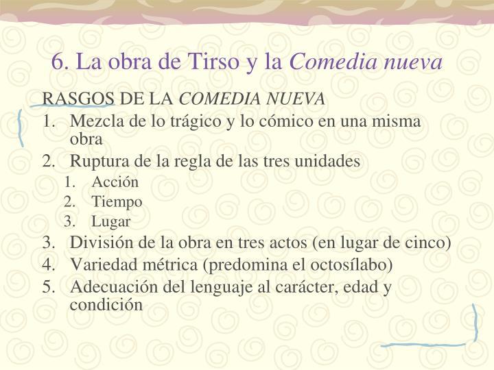 6. La obra de Tirso y la