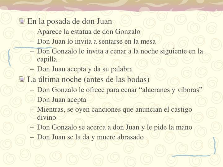 En la posada de don Juan