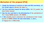 motivation of the proposal p18