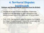 4 territorial disputes continued4