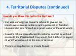 4 territorial disputes continued5