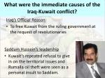 what were the immediate causes of the iraq kuwait conflict1