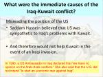 what were the immediate causes of the iraq kuwait conflict3