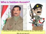 who is saddam hussein