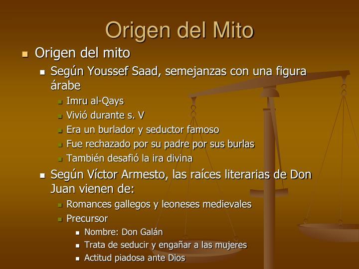 Origen del Mito