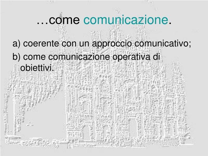 …come