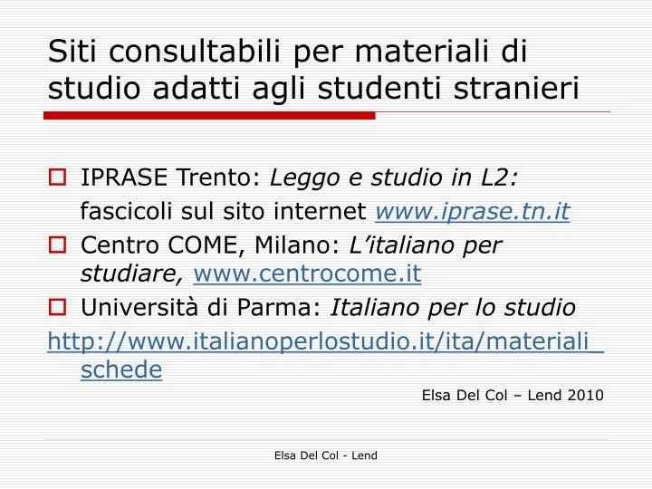 Siti consultabili per materiali di studio adatti agli studenti stranieri