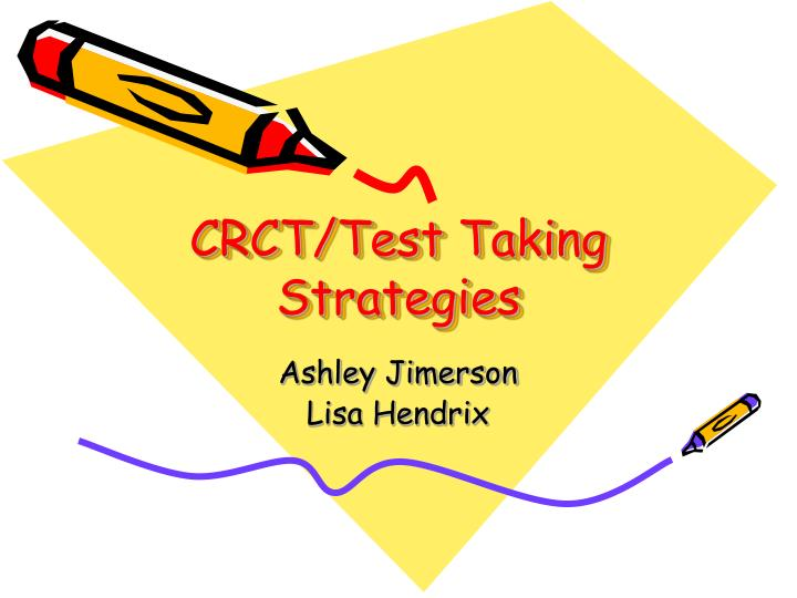 crct test taking strategies