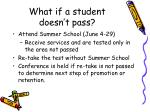 what if a student doesn t pass